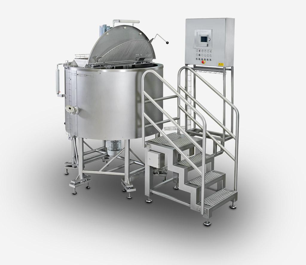 Der Dispergierkessel findet seinen Einsatz im Bereich der flüssigen Produkte, Suppen, Saucen etc.