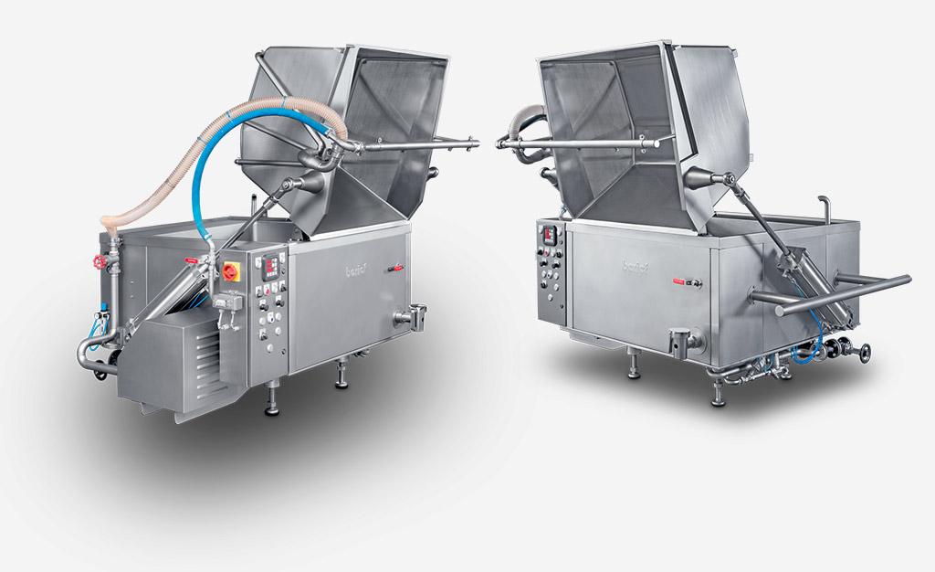 Ein Erfolgsprodukt für die Industrieküchen. Gerade für kleinere Mengen ist der HODAKO-S die richtige Anlage der Fertigmenü-Industrie.
