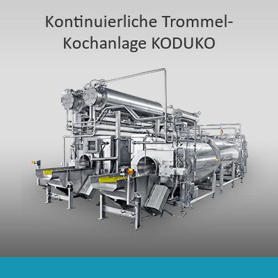 Kontinuierliche Koch- und Kühlanlagen KODUKO